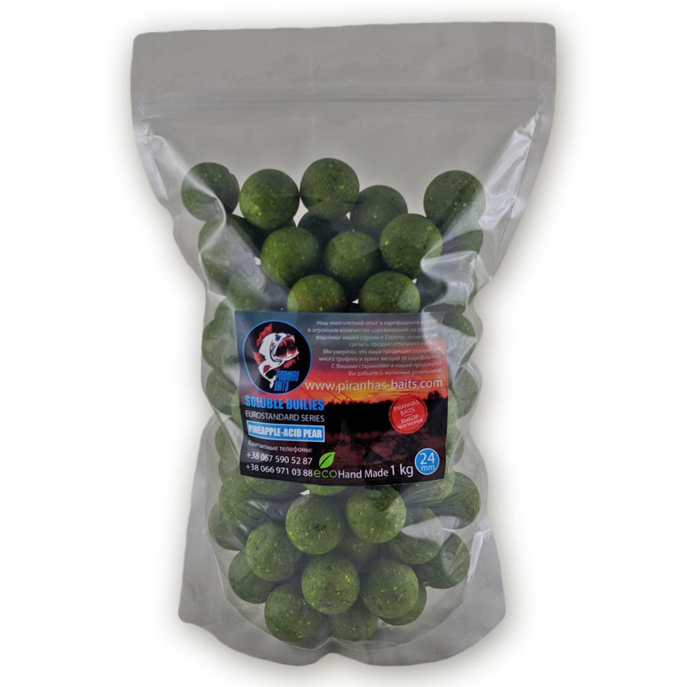 soluble boilies euro series pineappleacid pear  piranhas